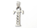 16mm Sterling Silver with SWAROVSKI Rhinestones Letter Charm - T