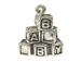 Sterling Silver Baby Blocks Spelling BABY Charm