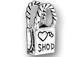Sterling Silver Love To Shop Shopping Bag Charm with Jumpring