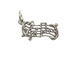 Sterling Silver Music Staff Charm with Jumpring