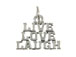 Sterling Silver Live, Love, Laugh Charm with Jumpring