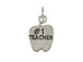 Sterling Silver #1 Teacher Apple Charm with Jumpring