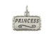 Sterling Silver Princess Plaque Charm with Jumpring