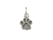 Sterling Silver Paw Print Charm with Jumpring