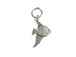 Sterling Silver Angel Fish Charm with Jumpring