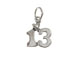 Sterling Silver 13th Birthday Bar/Bat Mitzvah Charm