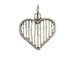 Sterling Silver Line Heart Charm with Jumpring