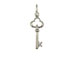 Sterling Silver Key To The Heart Charm with Jumpring