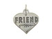 Sterling Silver Heart with Friend Charm with Jumpring