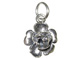 Sterling Silver Rose Bloom Charm with Jumpring