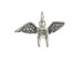 Sterling Silver Tooth with Wings Charm with Jumpring