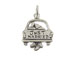Sterling Silver Car with Just Married Charm with Jumpring