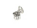 Sterling Silver Gift Box Charm with Jumpring