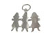 Sterling Silver Paper Doll Cutouts Charm with Jumpring