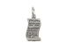 Sterling Silver Unscrolled Diploma Charm with Jumpring