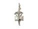 Sterling Silver LPN Caduceus Charm with Jumpring