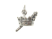 Sterling Silver Crown & Scepter Charm with Jumpring