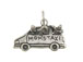 Sterling Silver Mini Van with Mom' s Taxi Charm with Jumpring