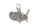 Sterling Silver Shape Of United States with USA Charm with Jumpring