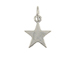 Sterling Silver Star Plain Charm with Jumpring