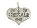 Sterling Silver Heart with Bridesmaid Charm with Jumpring