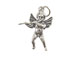 Sterling Silver Angel Playing Flute Charm with Jumpring