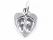 Sterling Silver Baby Foot Prints Heart Charm with Jumpring