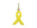 Sterling Silver Yellow Enamel Ribbon Charm with Jumpring