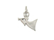 Sterling Silver Angel Playing Trumpet Charm with Jumpring