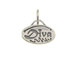 Sterling Silver Oval with Diva Charm with Jumpring