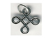 Sterling Silver Celtic Square Charm with Jumpring