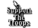 Sterling Silver Support The Troops Charm with Jumpring