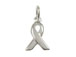 Sterling Silver Plain Ribbon Awareness Charm with Jumpring