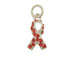 Sterling Silver Red Awareness Ribbon with Swarovski Crystals Charm with Jumpring