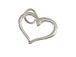 Sterling Silver Open Floating Heart Charm with Jumpring