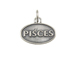 Sterling Silver Pisces Zodiac Pendant Charm with Jumpring