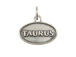 Sterling Silver Taurus Zodiac Pendant Charm with Jumpring