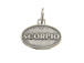Sterling Silver Scorpio Zodiac Pendant Charm with Jumpring
