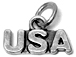Sterling Silver USA Charm with Jumpring