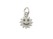 Sterling Silver Sun with Smiley Face Charm with Jumpring