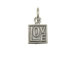 Sterling Silver Love in a Square Charm with Jumpring