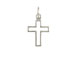 Sterling Silver Outline Cross Charm with Jumpring