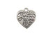 Sterling Silver Forever Mine Heart Charm