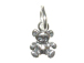 Sterling Silver Teddy Bear Charm with Jumpring