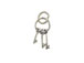 Sterling Silver Keys Charm with Jumpring