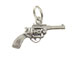 Sterling Silver Gun Six Shooter Charm with Jumpring