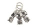 Sterling Silver 3 Monkey' s See, Hear, Speak No Evil Charm with Jumpring