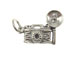 Sterling Silver Camera with Flash Charm with Jumpring