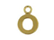 14K Gold Filled 8mm  Alpahbet Block Charm -  O