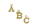 14K Gold Filled 8mm   8mm Tall Alphabet Block Charms -  Starter Set of 100 Charms